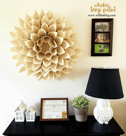 repurpose newspaper wreath
