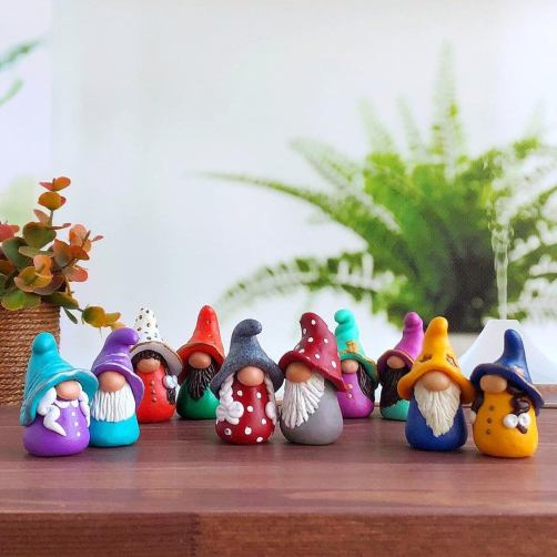 tiny garden gnome, Potted plant decorations