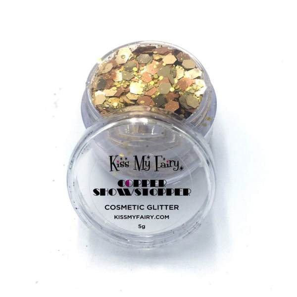 copper chunky glitter Kiss My Fairy Ibiza UK
