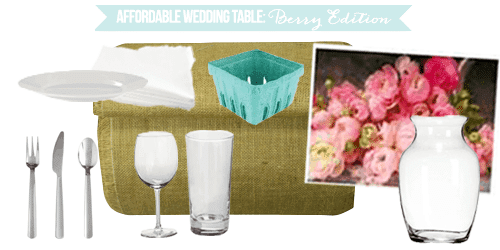 Affordable Wedding Table: Berry Edition