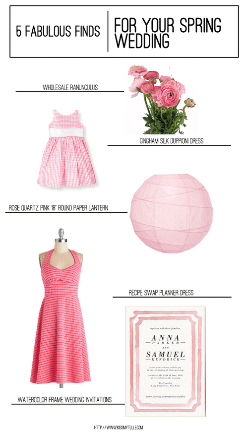 5 Fabulous Finds for Your Spring Wedding