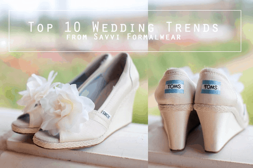 Partnered Post: Top 10 Wedding Trends from Savvi Formalwear