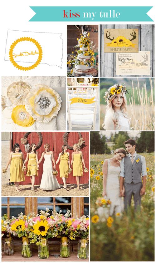 South Dakota State Wedding Inspiration