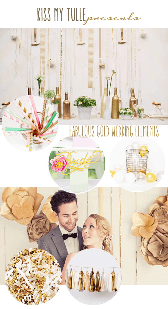 Fabulous Gold Wedding Elements