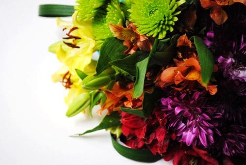 How to Make an Ugly Supermarket Arrangement into a Lovely Wedding Bouquet After