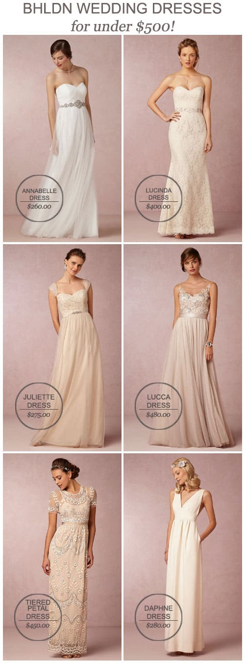 BHLDN Wedding Dresses for Under $500!