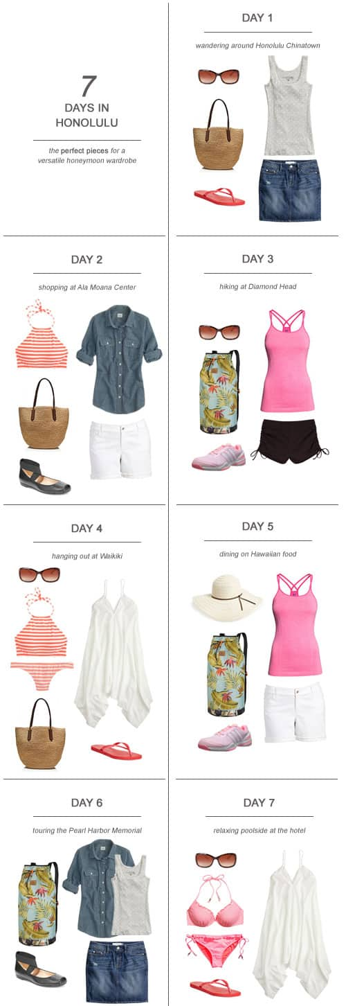 7 Days in Honolulu : The Perfect Pieces for a Versatile Honeymoon Wardrobe
