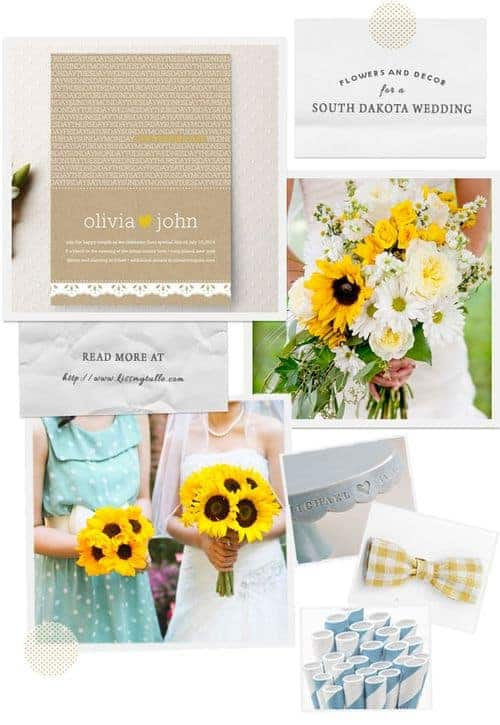 Flowers and Decor for a South Dakota Wedding    Kiss My Tulle