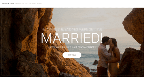 5 Tips for Your Perfect Wedding Website