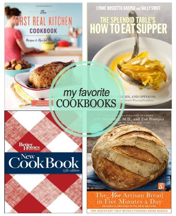 My Four Favorite Cookbooks