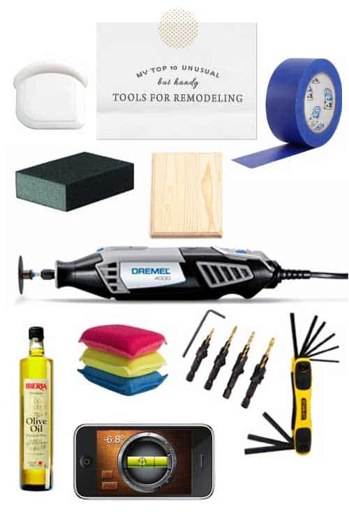 Here are my top 10 unusual but handy tools for remodeling: