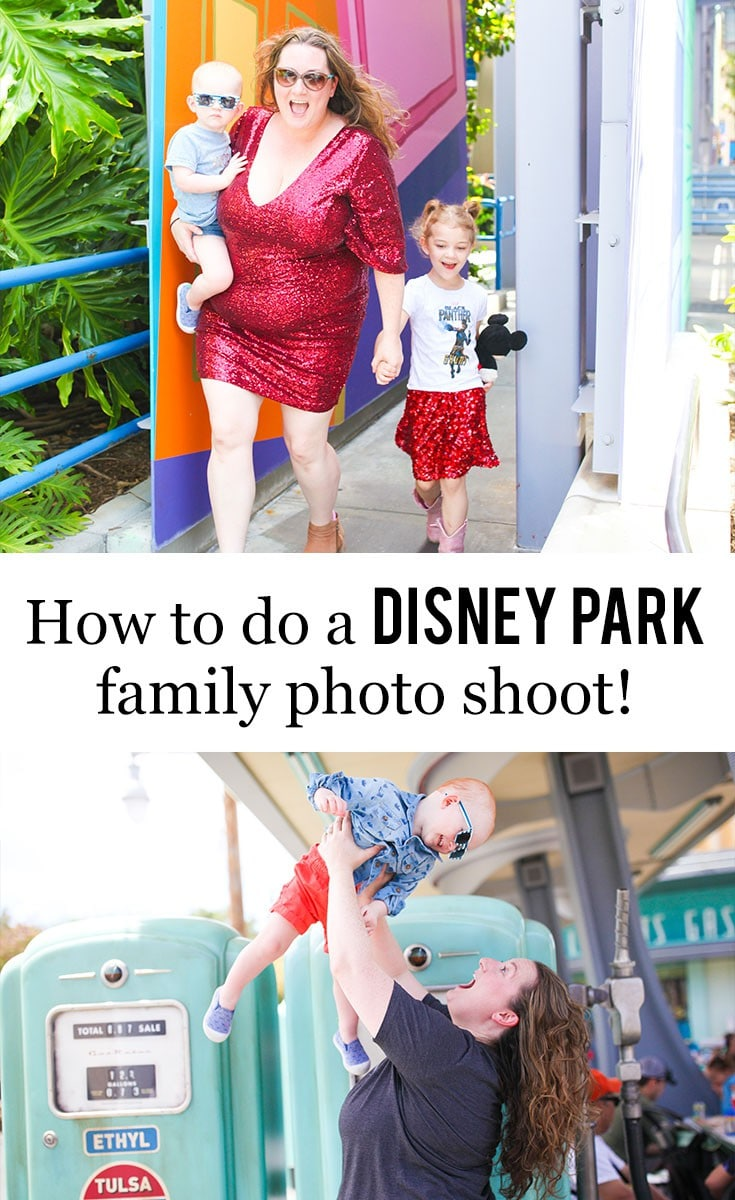 How To Do A #Disney Park Family Photo Shoot >>> Curious about how to do a Disney park family photo shoot? Here's my tips and suggestions for you! #disneyland #waltdisneyworld #dsmmc #tmom #familyphotography