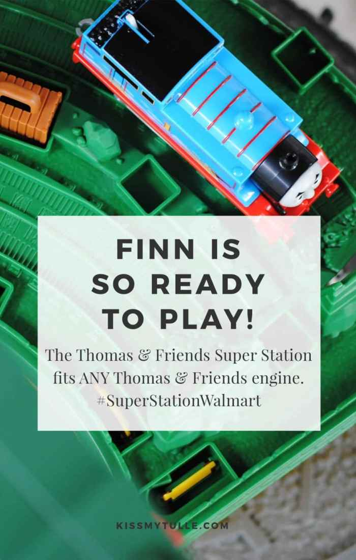 Melanie is in school and Finn has space to spread out and play. The Thomas & Friends Super Station fits ANY Thomas & Friends engine. #SuperStationWalmart