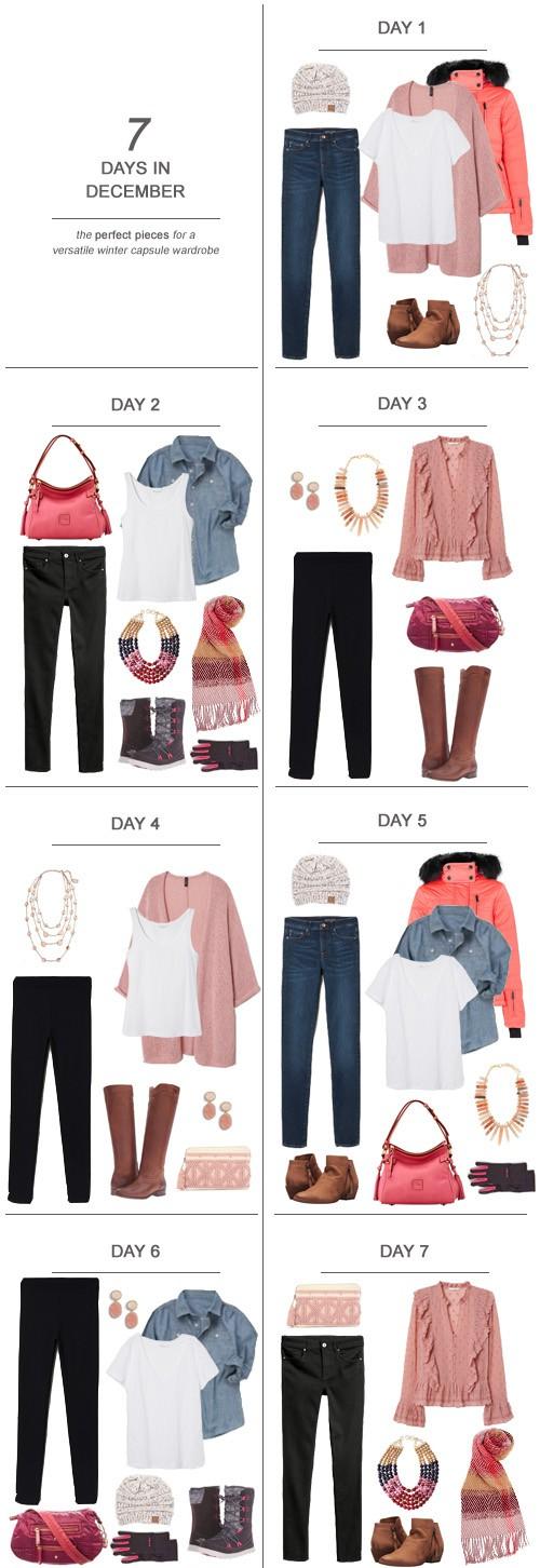 7 Days in December : The Perfect Pieces for a Versatile Winter Capsule Wardrobe #ootd #December #winter #capsulewardrobe #sahm
