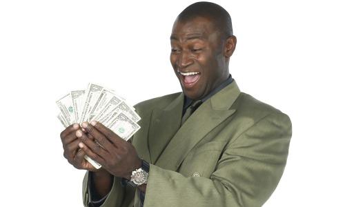 black man not broke money