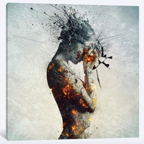 a broken woman