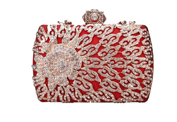 Red diamond bag