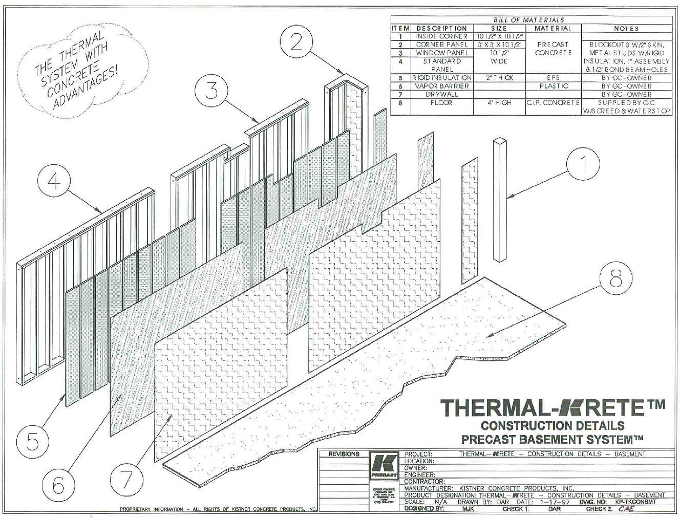 Thermal Krete Construction Details