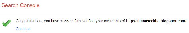 you have successfully verified