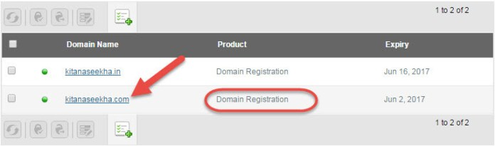 Select Domain Set Nameserver