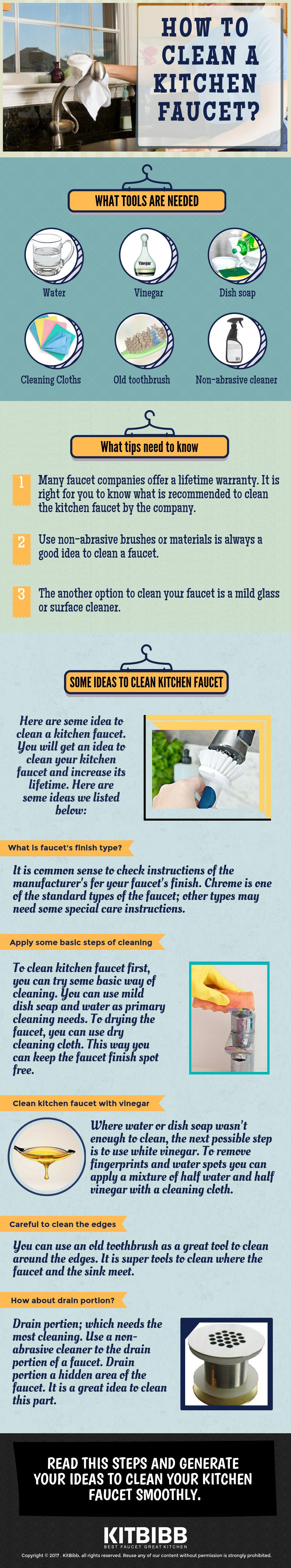 How To Clean Kitchen Faucet - Make Your Faucets Durability Double!