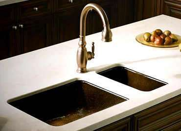 Top mount kitchen sinks