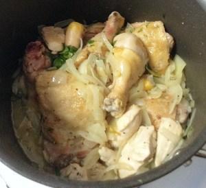 KitchAnnette Chicken Cacciatore Chicken Back in Pot