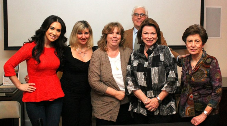 From left to right: Rosella Rago, Annette Zito, Mariann Raftery, John Mariani,