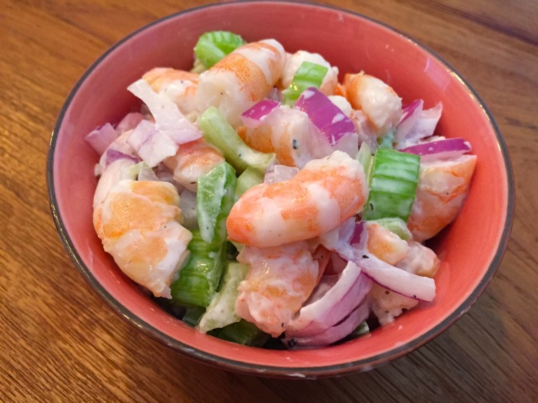 KitchAnnette Shrimp Salad Bowl