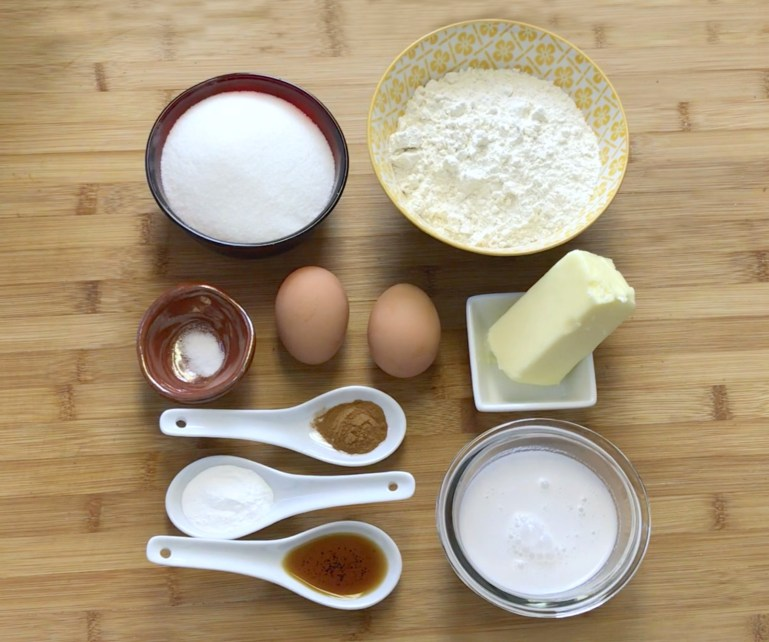 KitchAnnette Dunk Cake Donut Ingredients