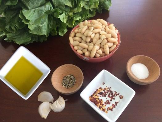 KitchAnnette Escarole Beans Ingredients