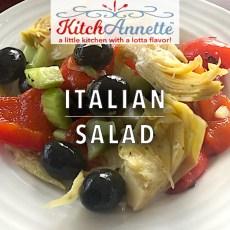 KitchAnnette Italian Salad FEATURE