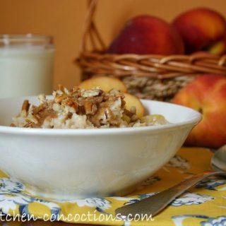 Peach Crisp Oatmeal