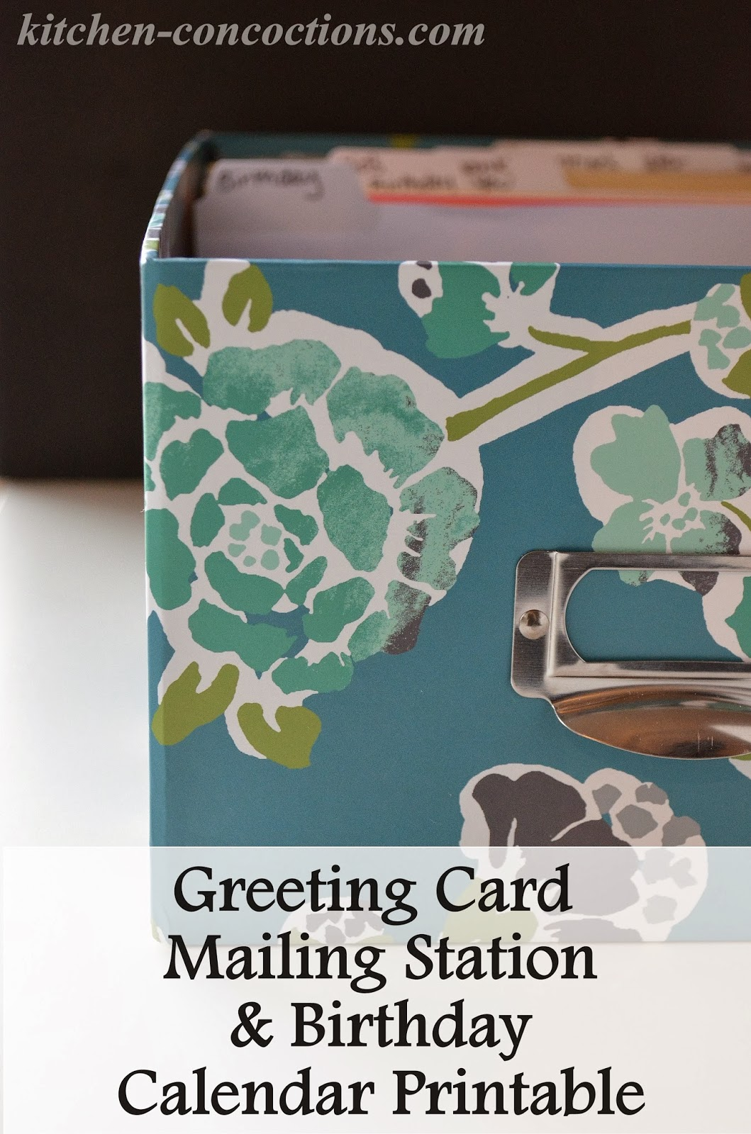 Crafty Concoctions Greeting Card Mailing Station And Birthday And