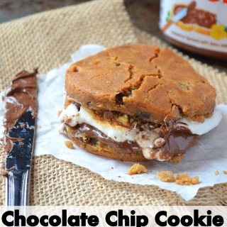 Chocolate Chip Cookie and Nutella S'mores