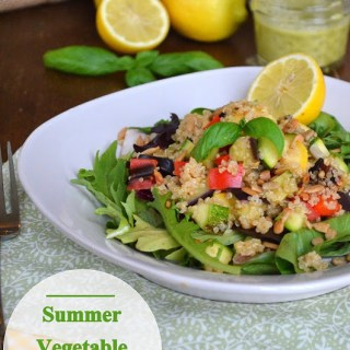 Summer Vegetable Quinoa Salad with Lemon Basil Vinaigrette