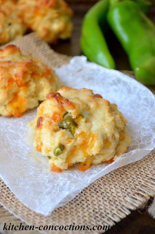 Hatch Chile Cheddar Biscuits