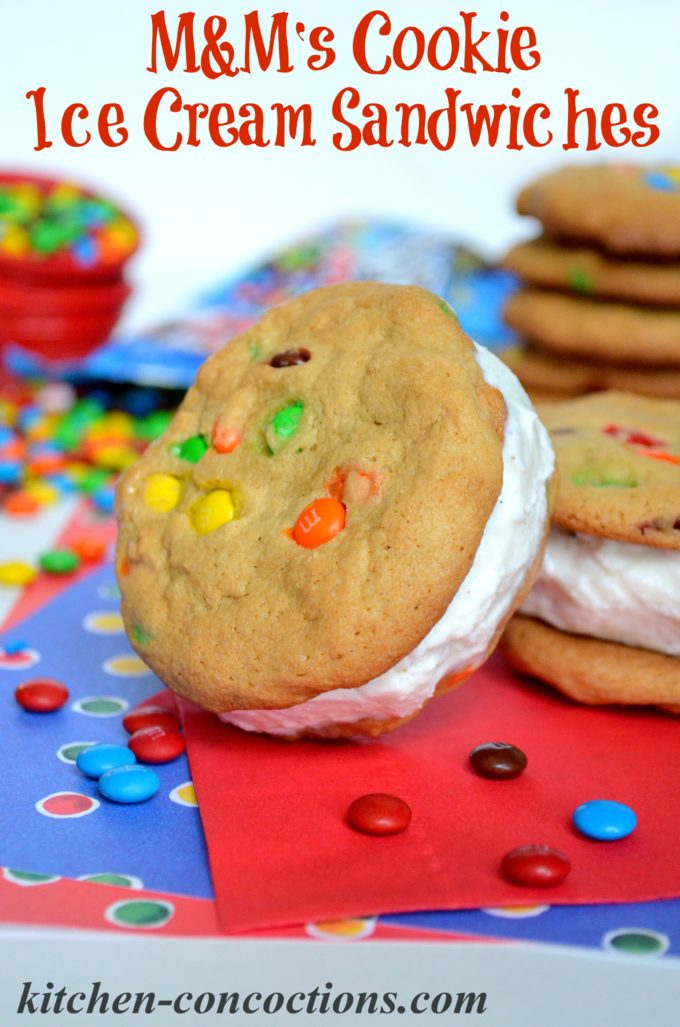 M&M's Cookie Ice Cream Sandwiches