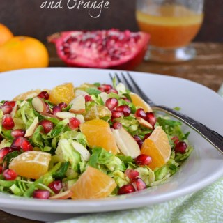 Brussels Sprout Salad with Pomegranate and Orange {Plus 10 Stress-Free Holiday Tips}
