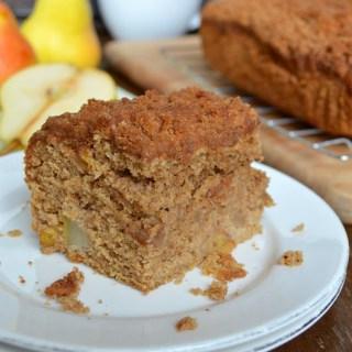 Spiced Pear Crumb Cake