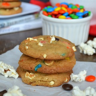 Movie Night Popcorn & M&M's® Cookies {Plus Movie Night Gift Baskets}