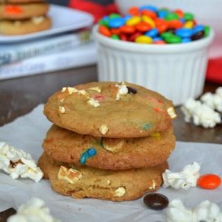 Movie Night Popcorn & M&M's® Cookies {Plus Movie Night Gift Baskets}