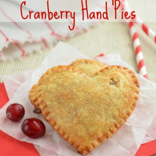 Mini Heart Shaped Cranberry Hand Pies {Plus a Comforting Winter Dinner with Caesar Salad and Marie Callender's Pot Pies}
