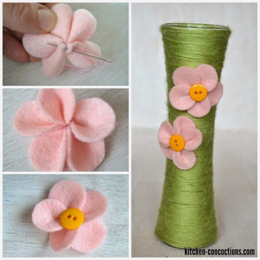 Yarn Wrapped Flower Vases and Affordable Mother's Day Gift Ideas {Crafty Concoctions}