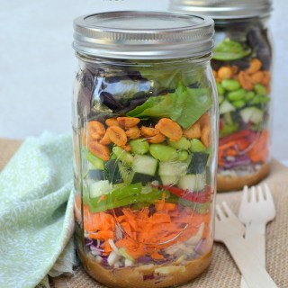 Thai Chopped Salad in a Jar {Plus 5 Tips for Eating Healthy While Traveling}