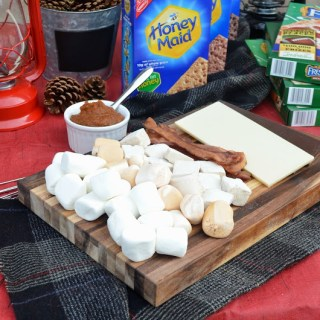 Glamping Themed Dinner Party with a DIY Fall Inspired S'mores Bar