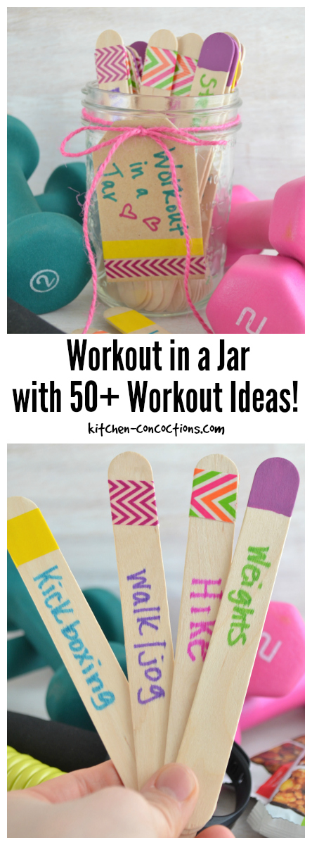 Workout in a Jar with 50+ Workout Ideas