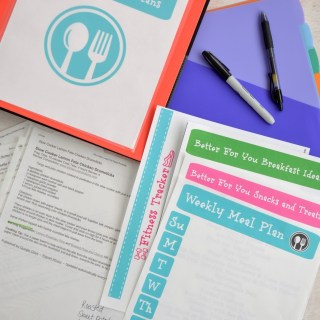 Better For You Recipe Binder, Meal Planner and Fitness Tracker {Free Printables!}