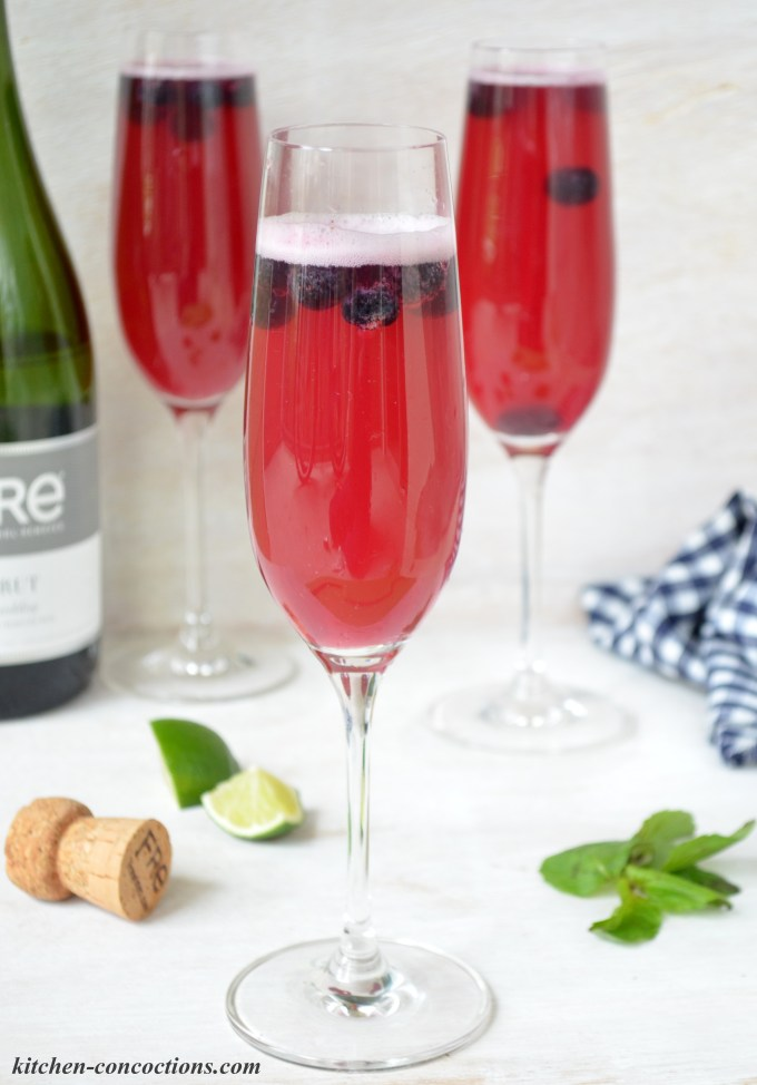 "Blueberry Lime ""Mock"" Mimosas"