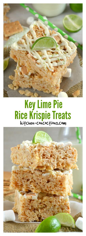 Key Lime Pie Rice Krispie Treats - Kitchen Concoctions